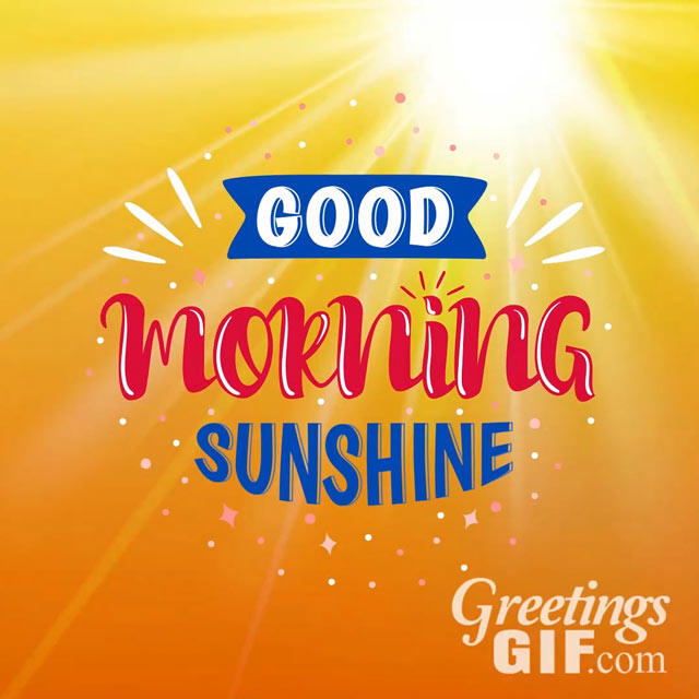 Good Morning Sunshine Image