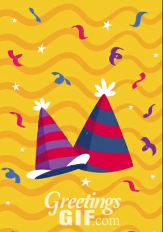 Animated Happy Birthday Wishes Balloons Gif - 13 2