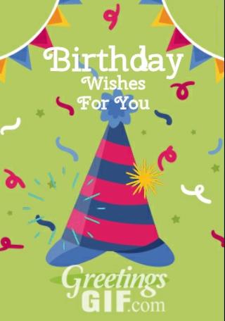Animated Happy Birthday Wishes Balloons Gif - 14 2