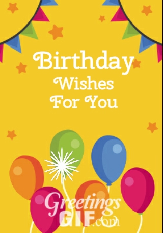 Animated Happy Birthday Wishes with Balloons Gif - 15 2